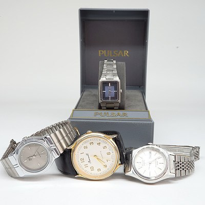 Four Vintage Ladies Wrist Watches, Including Seiko and Citizen