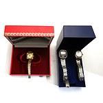 Three Vintage Ladies Wrist Watches, Including Swiss Roamer, Citizen Quartz Crystron LC and Pulsar Quartz