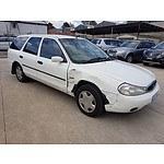 10/1997 Ford Mondeo LX HC 4d Wagon White 2.0L