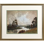 William J. Rush (New Zealand, Working c1904-61) Landscape, Watercolour