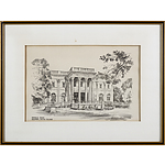 "Jas F Murray ""Gateway to the Breakers"" Pencil Sketch, and Bernard Corey ""Marble House Newport"" Pencil Sketch"