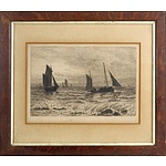 David Law (1831-1901) Fishing Vessels, Engraving