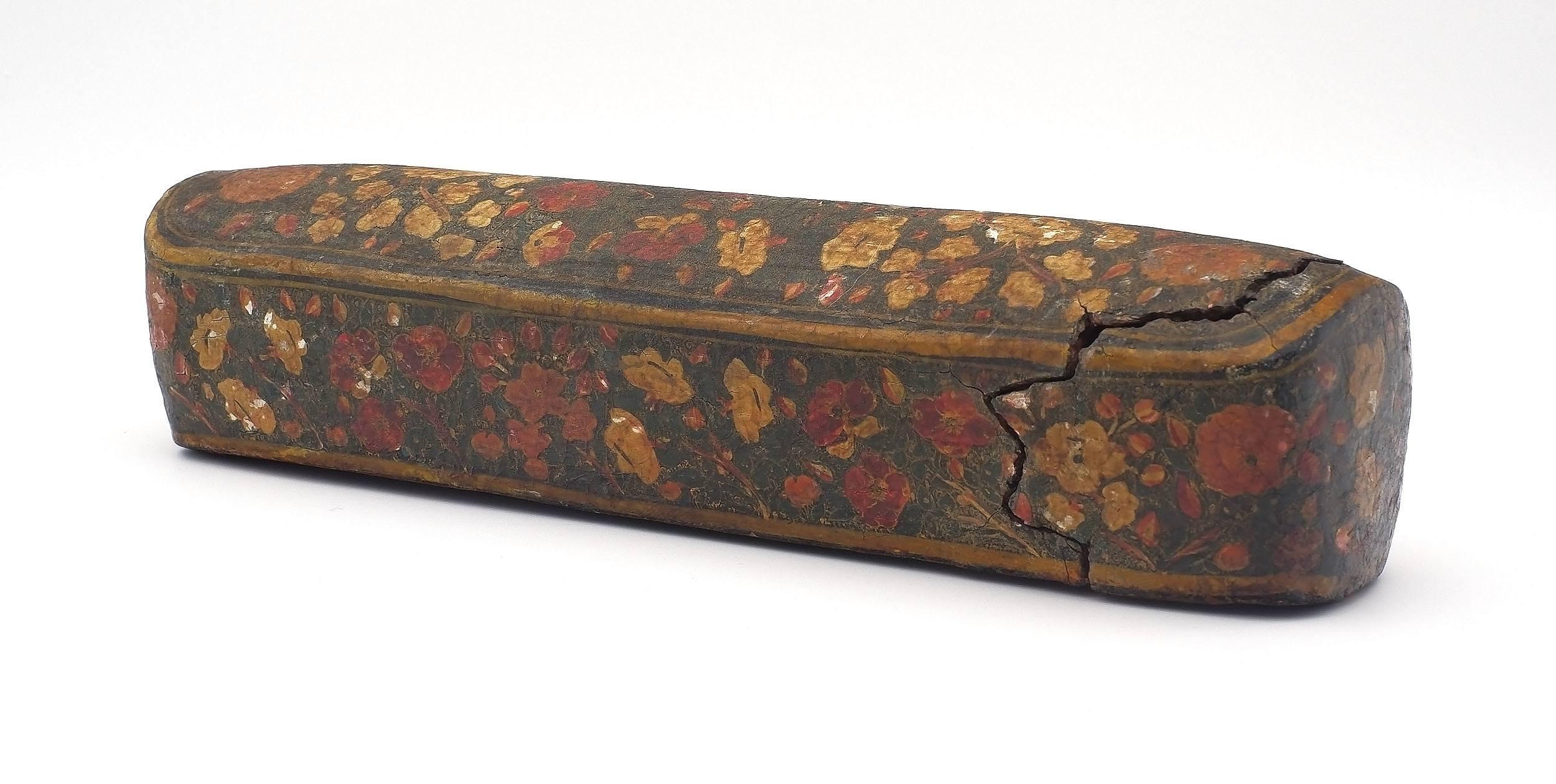 'Antique Indo Persian Papier Mache Scribes Pen Box (Qalamdan)'