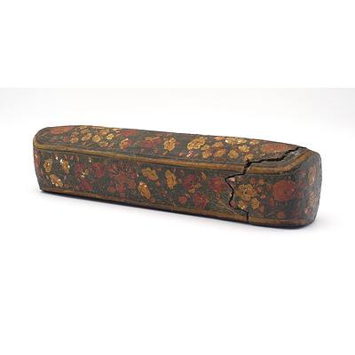 Antique Indo Persian Papier Mache Scribes Pen Box (Qalamdan)