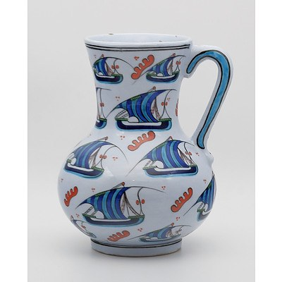 Good Quality Iznik Style Pottery Ewer from the Gursoy Workshop Turkey, Late 20th Century