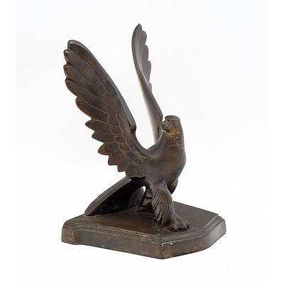 American Art Deco Frankart Cast Metal Eagle Bookend