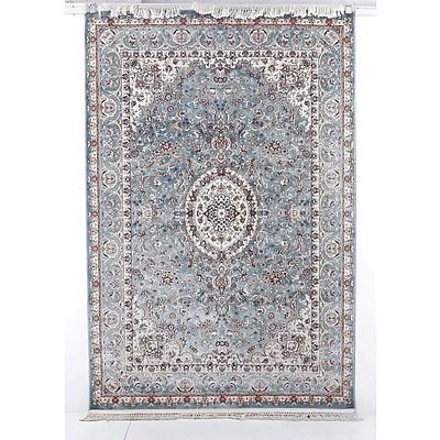 Persian Nain Style Machine Made Rug