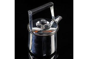 Serafino Zani Stainless Steel Teapot Designed by Sami Wirkkala, Finland