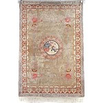 Chinese Hand Knotted Sculpted Wool Pile Rug
