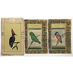 LATE ADDITION Three Indo-Persian Miniature Paintings of Birds with Calligraphy Verso