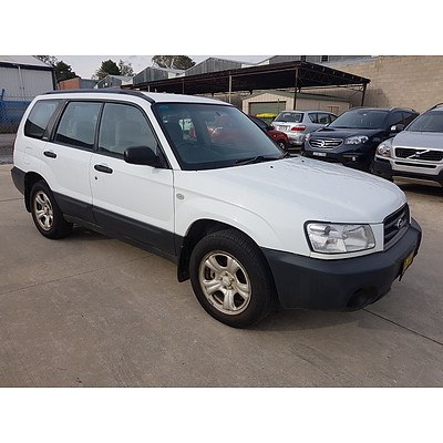 6/2003 Subaru Forester X MY03 4d Wagon White 2.5L