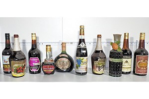 Selection Of Liqueurs As Shown