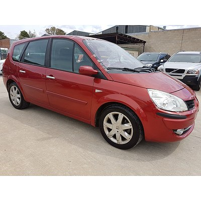9/2008 Renault Scenic Ii Dynamique J84 MY07 4d Wagon Red 2.0L