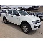 5/2012 Mitsubishi Triton GLX MN MY12 Utility White 2.5L