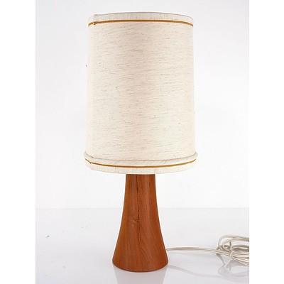 Retro Teak Based Table Lamp