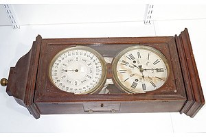 Gerome & Co Perpetual Calendar Wall Clock, Circa 1882