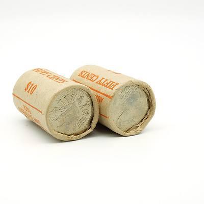 Two RAM 1982 Brisbane Commonwealth Games 50 Cent Rolls