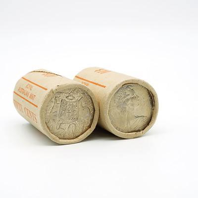Two RAM 1980 50 Cent Rolls