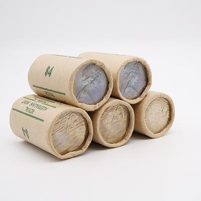 Five RAM 1981 20 Cent Rolls