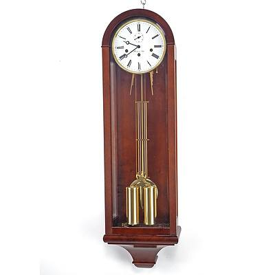 Quality German Made Hermle & John Weight Driven Chiming Wall Clock, Modern