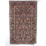Semi-Antique Persian Kashan Hand Knotted Wool Pile 'Tree of Life' Rug