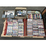 Very Large Selection of DVD's, CD's, VHS Videos and Books