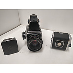 HASSELBLAD 500C/M Medium Format Camera, Carl Zeiss F2.8 80mm Lens & Spare Film Back