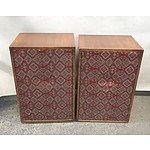 Pair of Custom Made Speaker Cabinets 75 Watts
