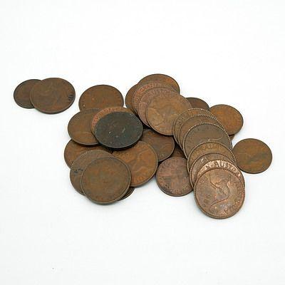 Group of Australian Pennies 1938-1964