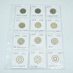 Sheet of Various 2 Dollar Coins
