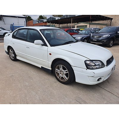 4/2002 Subaru Liberty RX MY02 4d Sedan White 2.5L