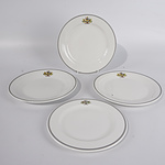 Quantity of Australian Parliament House Crockery Including Three Main Plates and One Side Plates