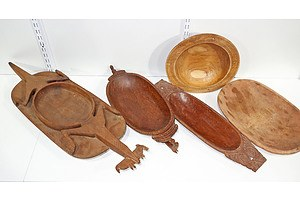 New Guinea Massim Carved Dishes