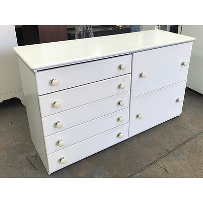 Pair of White Chest of Drawers