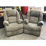 Pair of Grey Recliner Chairs