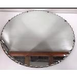 Scalloped Edge Circular Mirror