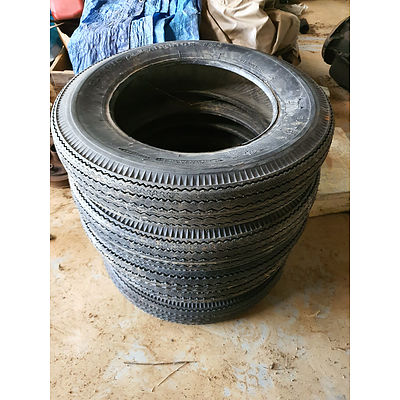 Rare Vintage Olympic Air-Ride C64 5.60-15 Ply Tyres - Set of 5 - New