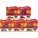 Hot Wheels - (2018) 50th Anniversary Originals Redlines Series Set of 5 Cars & Buttons