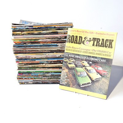 Approximately 45 'Road & Track' Magazines from the 1970's Onward.