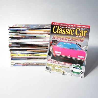 Approximately 50 'Australian Classic Car Monthly' Magazines from the 1990's Onward.