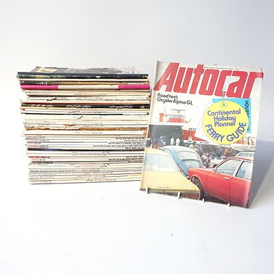 Approximately 35 'Autocar' Magazines from the 1960's and 1970's.