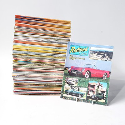 Approximately 90 'Restored Cars' Magazines from the 80's, 90's and Beyond.