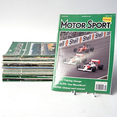 Approximately 20 'Motor Sport' Magazines from the 50's, to the 80's.