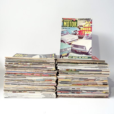 Approximately 80 'Modern Motor'  Magazines from the 1960's, 1970's and Beyond