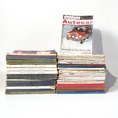 Approximately 50 Older 'Autocar' Magazines from the 1960's