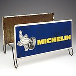 Vintage Michelin Painted Tin Tire Display Rack