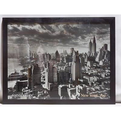 Large Offset Print of New York City, 1931 in Wooden Frame
