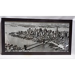 A large Photograph of New York City, 1928 in Wooden Frame