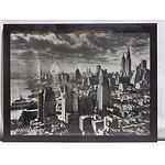 A large Photograph of New York City, 1931 in Wooden Frame