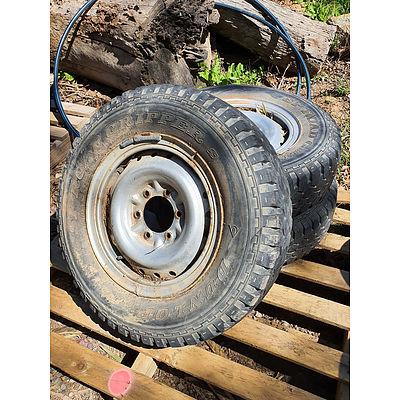 """Lot 142 - Six Stud 16"""" Wheels - Lot of 3"""